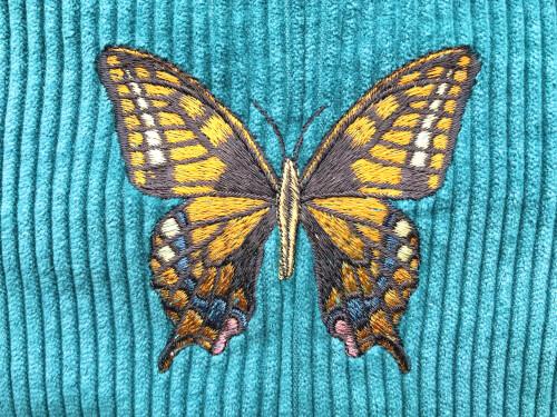 Kussen vlinder geel