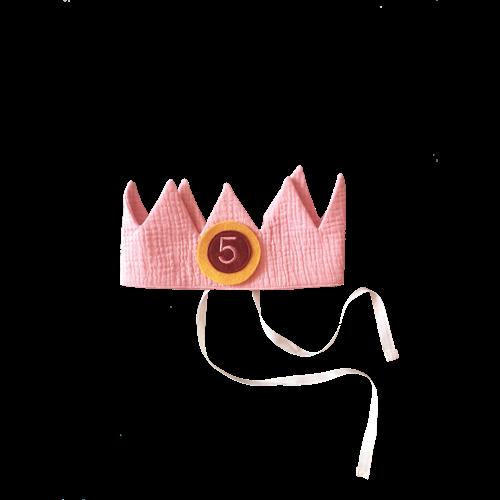 Verjaardagskroon oudroze